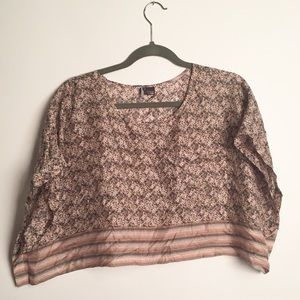 Sparkle and Fade crop top blouse GUC M